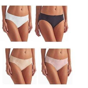 Karen Neuburger Womens 4-Pack Hi Cut Panties